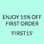 15% off - Enjoy 15% off your first purchase!
